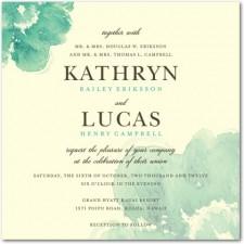 Blooming Watercolor Wedding Invitations
