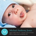 Blue Initial Birth Announcements