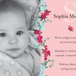 Climbing Rose Birth Announcements