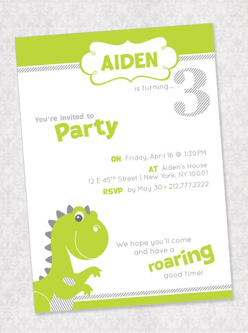 Dinosaur birthday party invites invitation crush dinosaur birthday party invitations filmwisefo Image collections