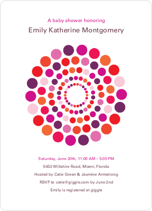 Colorful Dots Baby Shower Invitations