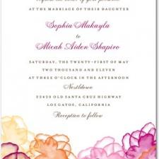 Floral Watercolor Wedding Invitations