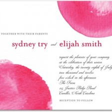 Fresh Romance Wedding Invitations