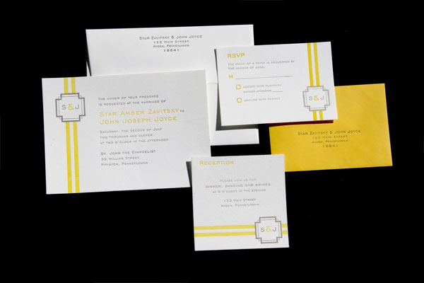 Lauren Letterpress Wedding Invitations