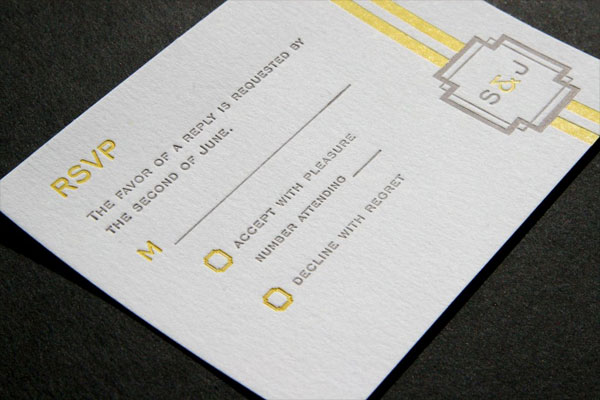 Art Deco RSVP Card Emblem