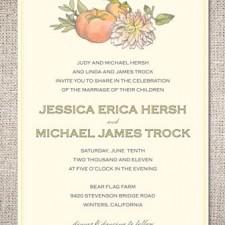 Heirloom Harvest Wedding Invitations