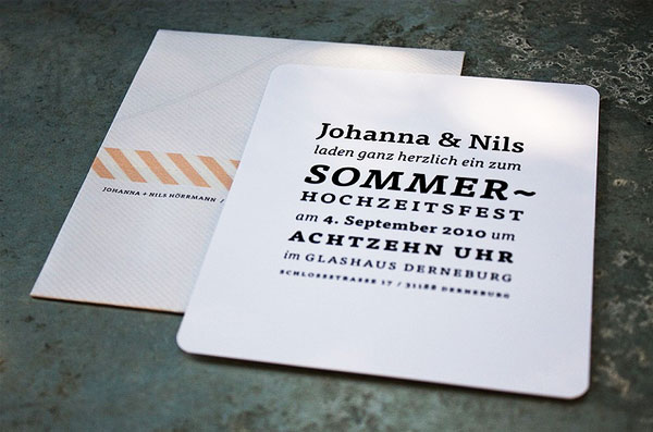 Black and White Typography Wedding Invitations