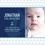 Nautical Birth Announcements