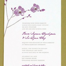 Orchid Wedding Invitations