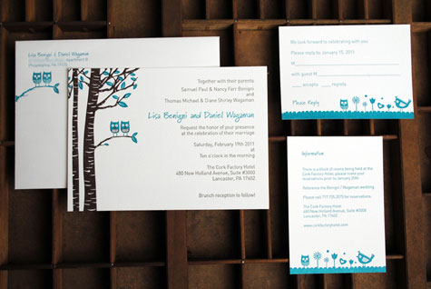 Owl Wedding Invitations