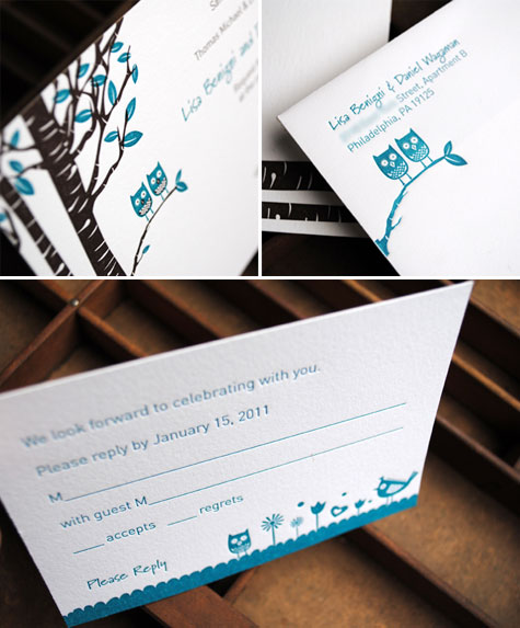 Letterpress Owl Invitations Jane Branton