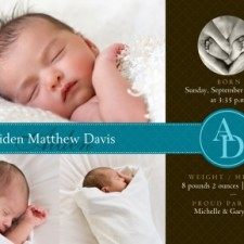 Perfect Quilt Birth Announcements