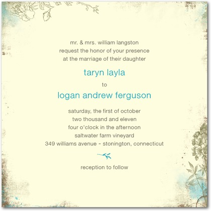 Rustic Garden Wedding Invitations
