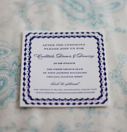 Classic Wedding Invitations image source Sarah Drake Design
