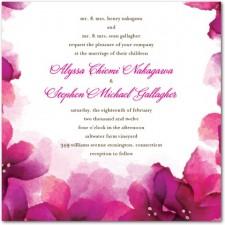 Vivid Blooms Wedding Invitations