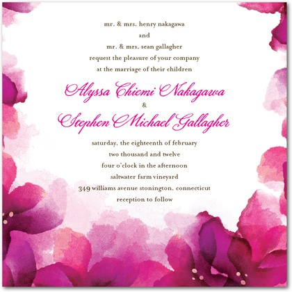 Vivid Blooms Wedding Invitations