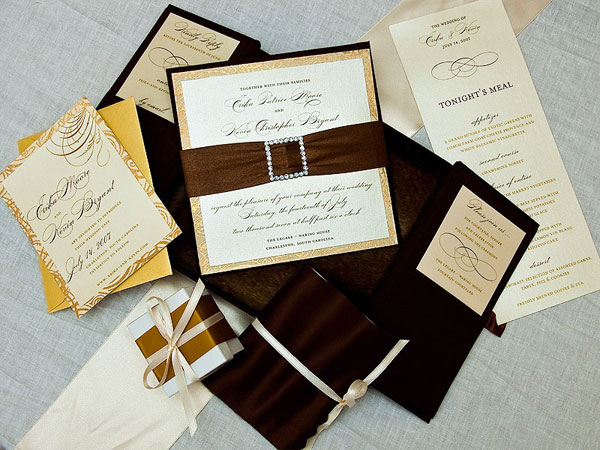 Ornate Custom Wedding Invitation Design