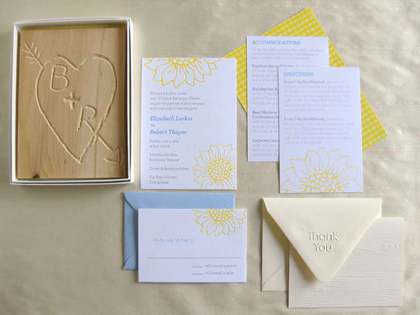 Playful Modern Wedding Invitations