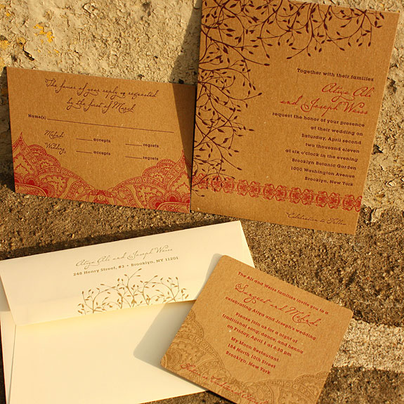 Atiya and Joseph's Indian Inspired Wedding Invites