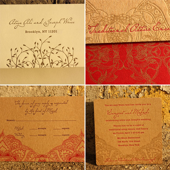 Indian Patterned Wedding Invitations