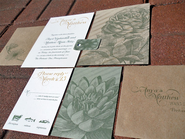 eco-friendly spring floral wedding invitations - invitation crush, Wedding invitations