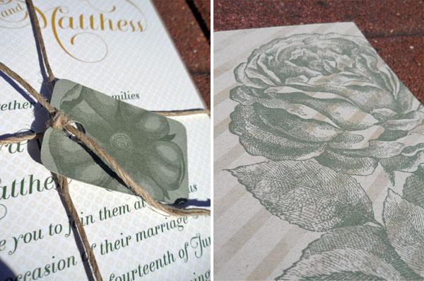 Classic Floral Wedding Invites