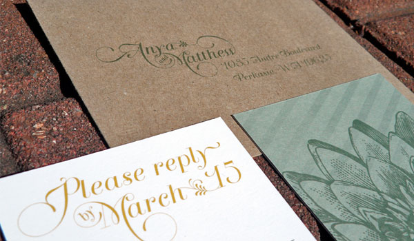 eco-friendly spring floral wedding invitations - invitation crush,