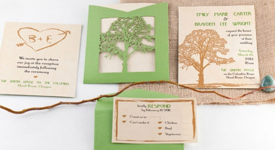 eco-friendly event stationery by lol letterpress - invitation crush, Wedding invitations