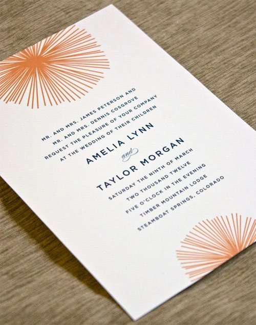Burst Wedding Invitations