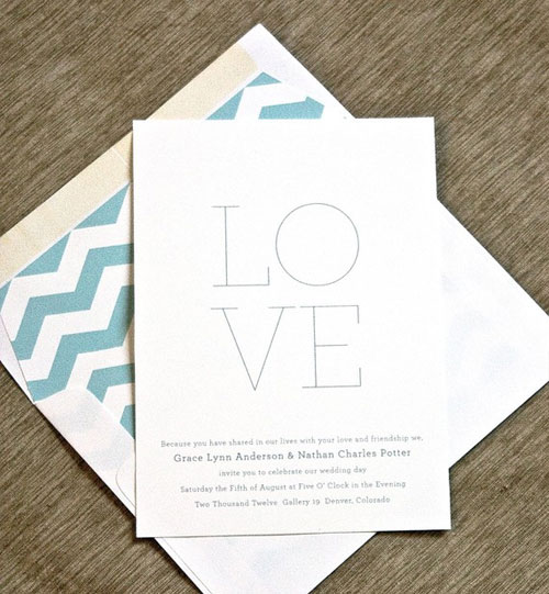 Minima Wedding Invitations