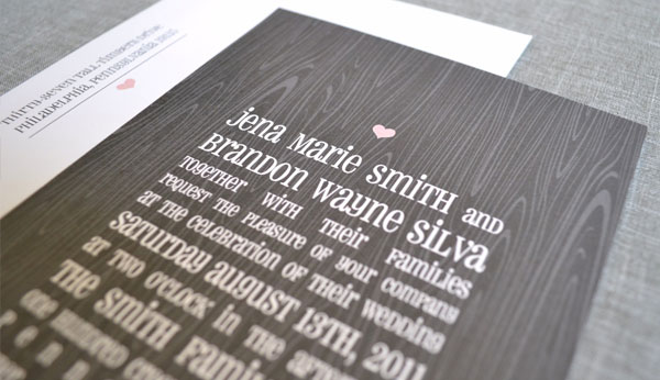 Woodgrain Wedding Invitations