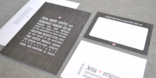 Pink and Gray Invitation Suite