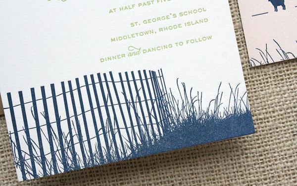 Navy Letterpress Silhouette Detail