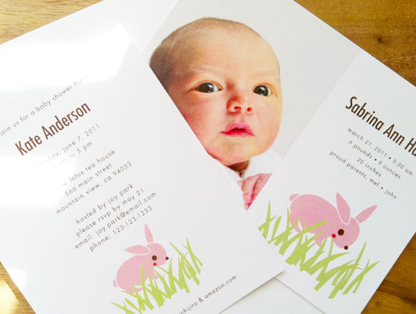 Shichijiro Cute Birth Announcements