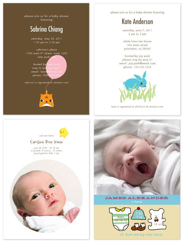 Shichijiro Birth Announcements + Shower Invites