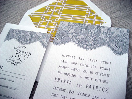 Wedding Invitations by The Woolberry Press