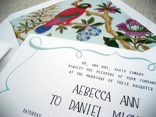 Whimsical Wedding Invites
