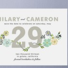 Floral Save the Date Cards