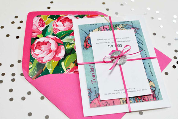 Wedding Invitations England: A Candy-Colored, New England-Inspired Wedding Suite