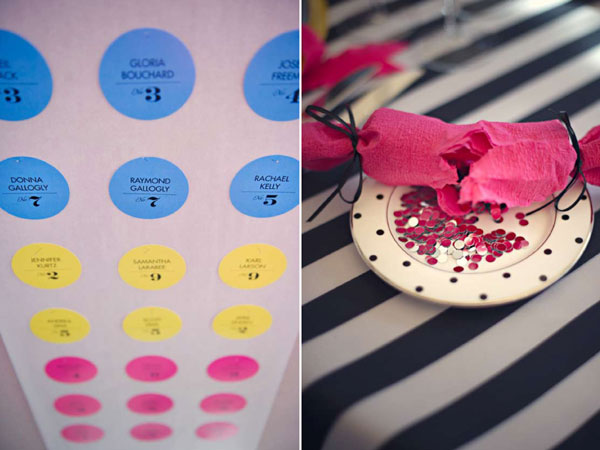 Candy Button Table Numbers
