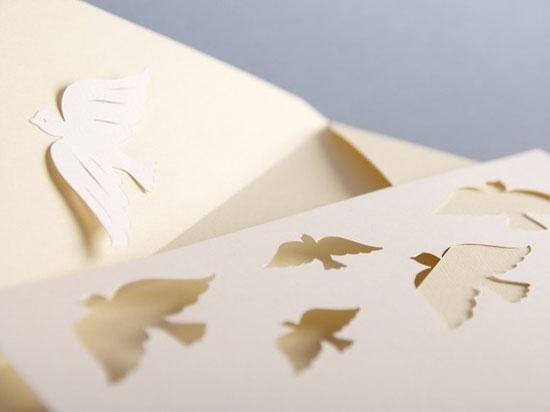 Papercut Dove Wedding Invitations Invitation Crush