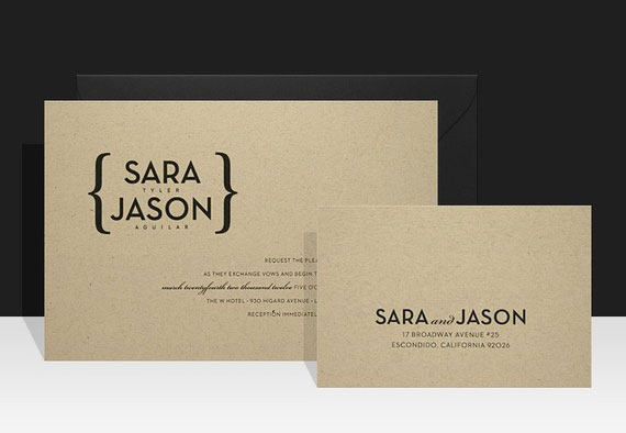 Kraft Paper Wedding Invites