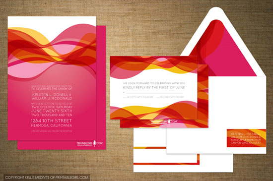 Hot Mama Wedding Invitations