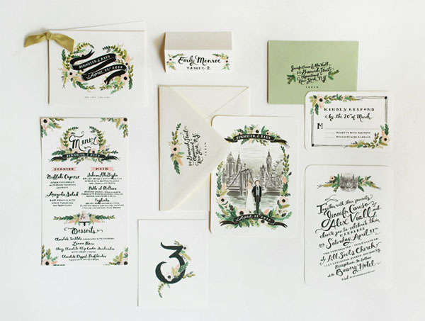 New York and London Wedding Invitations