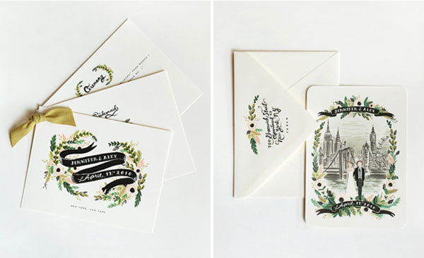 Anna Bond Illustrated Wedding Invitations