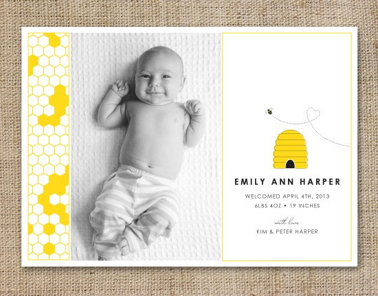 Honeybee Birth Announcements