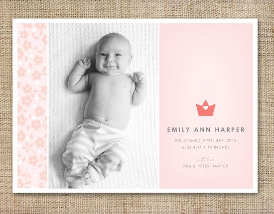 Crown Birth Announcements