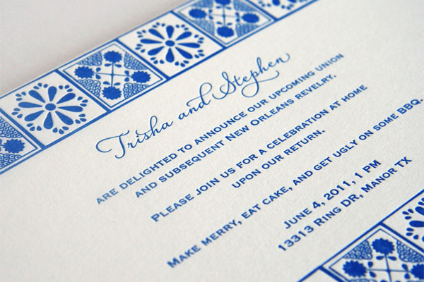 Tile Pattern Invites