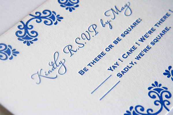Letterpress Response Card
