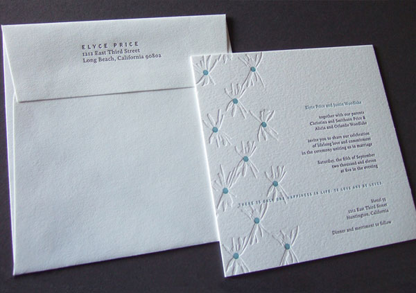 Pleats Wedding Invitations